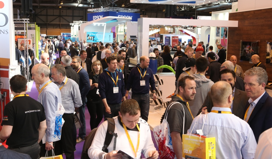 Busy aisles at Sign and Digital UK at the NEC