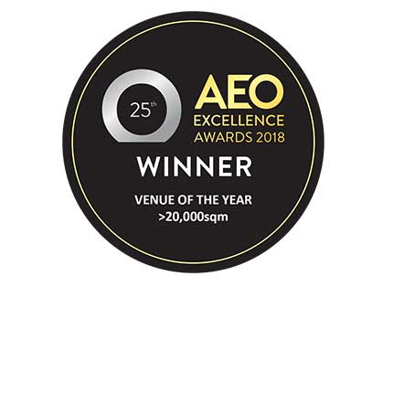 Venue Of The Year > 20000sqm: AEO Excellence Awards award image